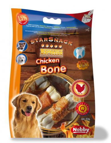 Nobby StarSnack Barbecue kostièky s kuøecím masem 193g