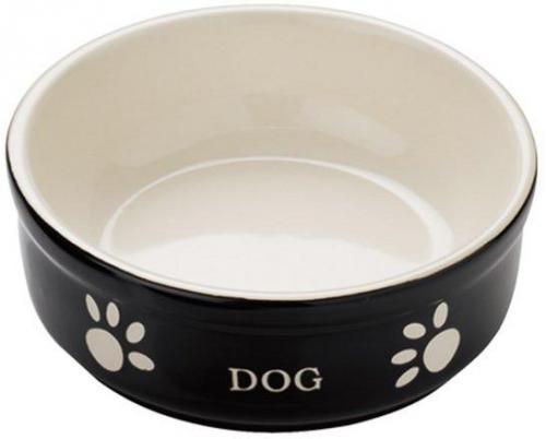 Nobby DOG miska èerno-béžová 12,0 x 3,7 cm