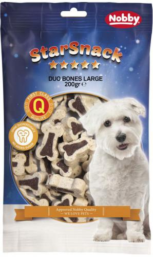 Nobby StarSnack Duo Bones velké kostièky jehnì+rýže 200g