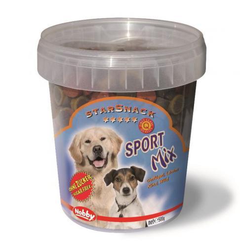 Nobby StarSnack Sport Mix kyblík pamlsky pro psa 500g