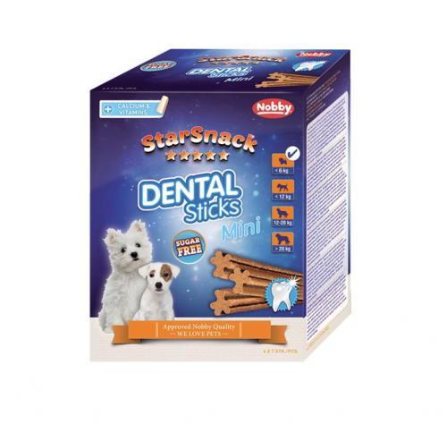 Nobby StarSnack Dental Sticks Mini dentální tyèinky pro psa 28ks / 252g
