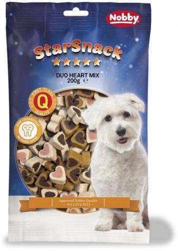 Nobby StarSnack Duo Heart Mix pamlsky pro psa 200g
