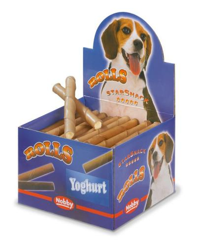 Nobby Starsnack Rolls Buvolí trubièky plnìné jogurt 50ks