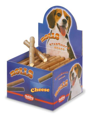 Nobby Starsnack Rolls Buvolí trubièky plnìné sýrové 50ks