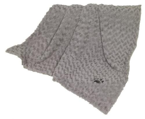 Nobby Super Soft fleecová mìkká deka 100x150cm svìtle šedá