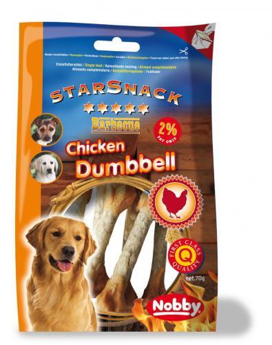 Nobby StarSnack Barbecue Chicken Dumbbell pamlsek 70g