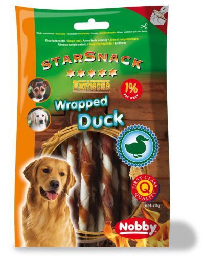 Nobby StarSnack BBQ Wrapped Duck bùvolí tyèinka s kachnou 70g