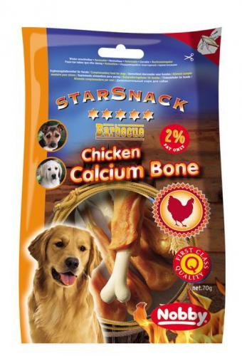 Nobby StarSnack Chicken Calcium Bone kalciová kost s kuøetem 70g