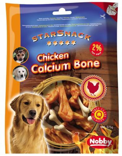 Nobby StarSnack Chicken Calcium Bone kalciová kost s kuøetem 375g