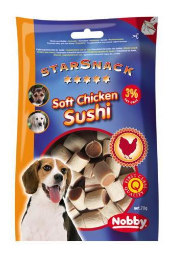 Nobby StarSnack Soft Chicken Sushi kuøe & ryba 70g