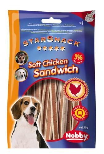 Nobby StarSnack Soft Chicken Sandwich mìkké pamlsky kuøe+ryba 70g