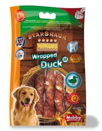 Nobby StarSnack Barbecue Wrapped Duck Medium tyèinky 13cm / 140g
