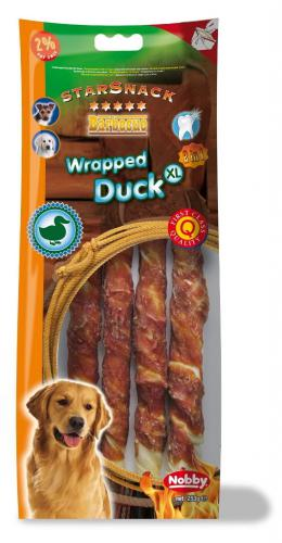 Nobby StarSnack Barbecue Wrapped Duck XL tyèinky 25cm / 253g