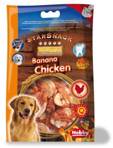 Nobby StarSnack BBQ Banana Chicken pamlsky 113g