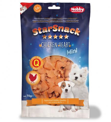 Nobby StarSnack Mini Soft Chicken Heart kuøecí pamlsky pro psy 70g