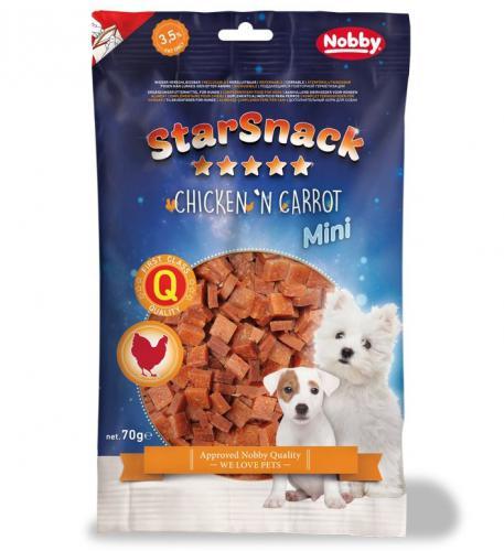 Nobby StarSnack Mini Soft kuøe+mrkev pamlsky pro psy 70g