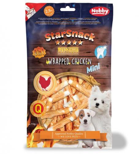Nobby StarSnack Mini Wrapped kuøecí tyèinky pro psy 113g
