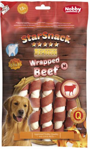 Nobby StarSnack BBQ Wrapped M Beef pamlsky 160g