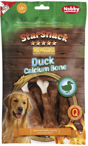 Nobby StarSnack BBQ Duck Calcium Bone pamlsky 113g