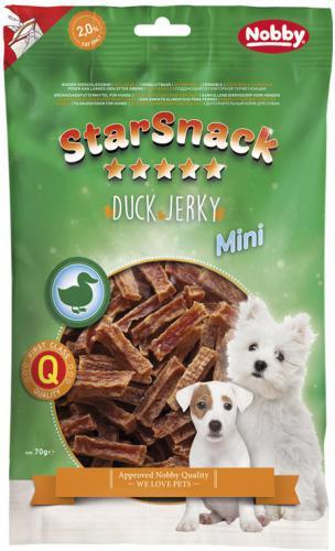 Nobby StarSnack Mini Jerky pamlsek kachní plátky 70g