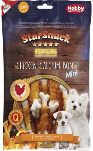 Nobby StarSnack BBQ Mini kalciová kostièka s kuøetem 7cm / 70g