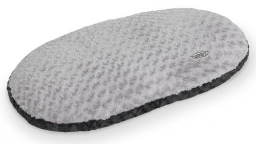 Nobby Seoli mìkký plyšový polštáø šedý 63x40cm