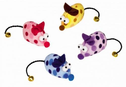 Nobby hraèka plyšová myš s rolnièkou 6,5cm 2ks