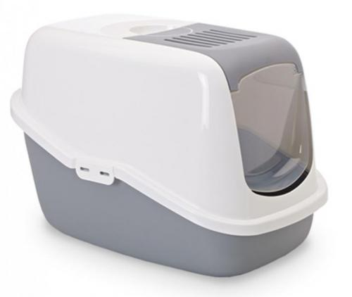 Savic NESTOR toaleta pro koèky šedá 56x39x38cm