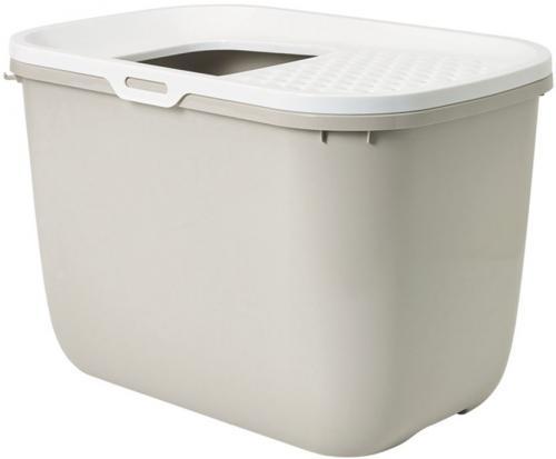 Savic Hop In toaleta pro koèky s horním vstupem béžová 59x39x38cm