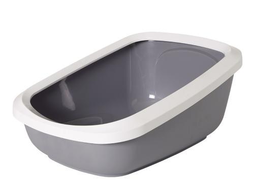 Savic velká toaleta s vysokým okrajem 67x48x28cm šedá