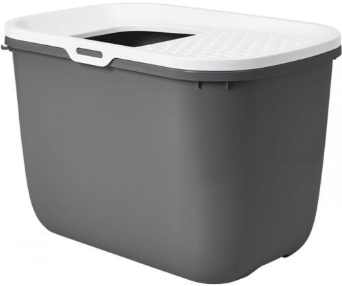 Savic Hop In toaleta pro koèky s horním vstupem antracit 59x39x38cm