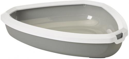 Savic Rincon rohová toaleta pro koèky šedá 58,5 x 46 x 13,5 cm