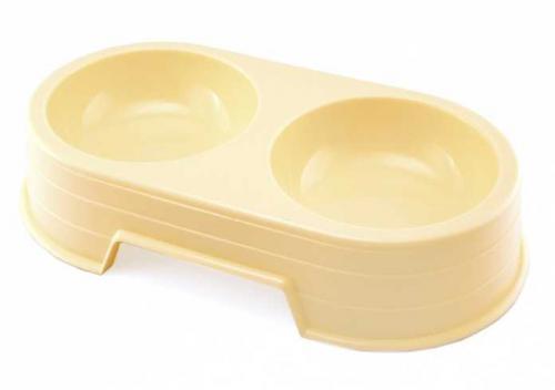 Miska plast dvojitá 2 x 300 ml