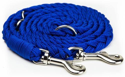 Nobby pletené vodítko S-M 200cm 16mm modrá