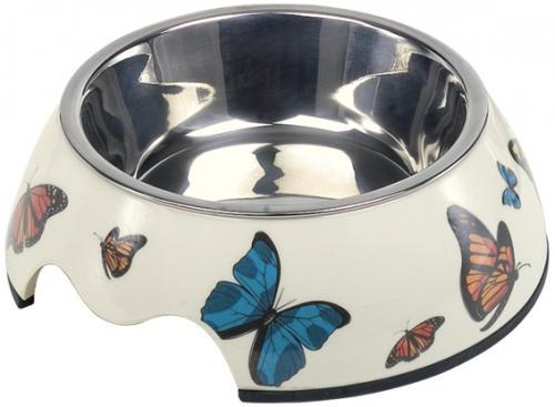 Nobby Butterfly nerez miska v pouzdøe s motýli 160ml