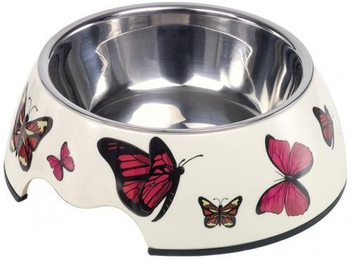 Nobby Butterfly nerez miska v pouzdøe s motýli 350ml