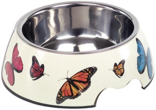 Nobby Butterfly nerez miska v pouzdøe s motýli 700ml