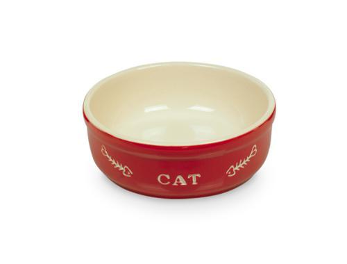 Nobby Cat keramická miska 13,5 cm èervená