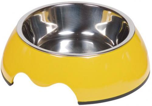 Nobby Nobly nerez miska v žlutém pouzdøe 160ml