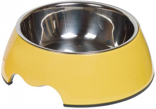Nobby Nobly nerez miska v žlutém pouzdøe 350ml