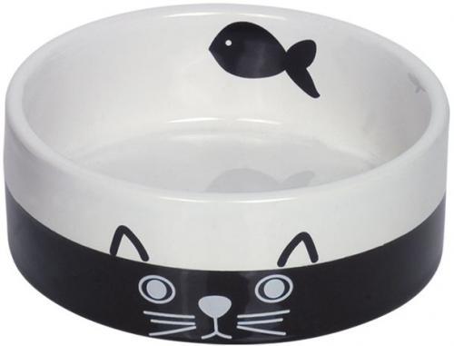 Nobby keramická miska pro koèky èernobílá 12 cm