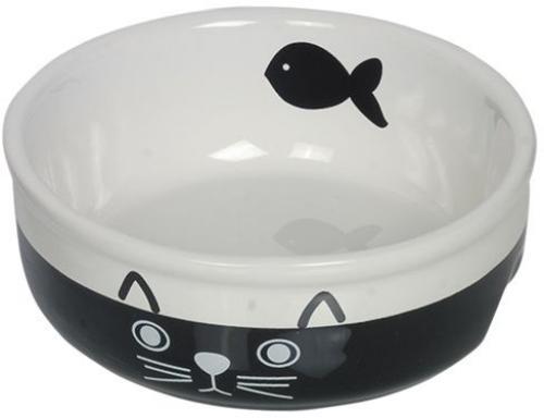 Nobby keramická miska pro koèky èernobílá 13,5 cm