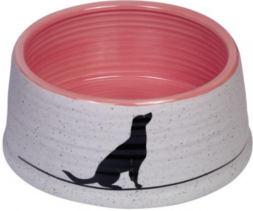 Nobby Luna keramická miska rùžová 15 x 6,5 cm