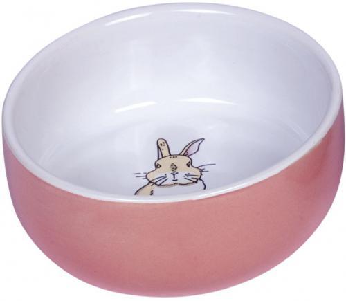 Nobby Rabbit keramická miska pro hlodavce rùžová 11 x 4,5 cm