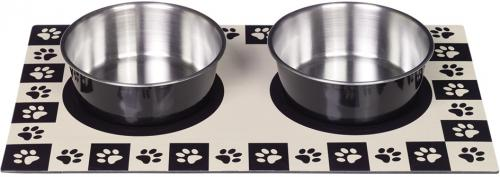 Nobby magnetická podložka èerná + 2 misky 920ml