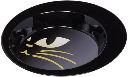 Nobby nerezová lakovaná miska Kitty pro koèky èerná 340ml