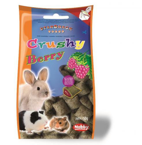 Nobby StarSnack Crushy pamlsek pro hlodavce køupavé polštáøky plody 50g