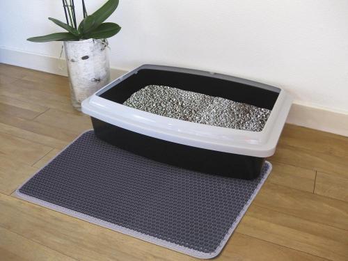 Nobby si�ovaná rohož pøed koèièí toaletu 39x60cm šedá