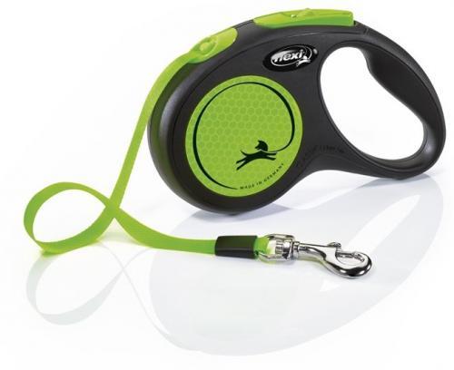 Flexi NEW NEON páskové vodítko S zelená 5m do 15kg