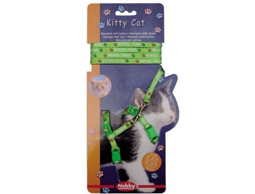 Nobby Kitty Cat zelený set postroj + vodítko pro kotì